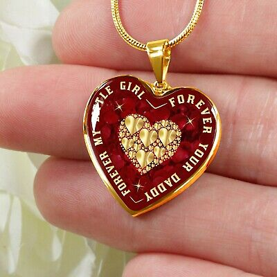 To My Daughter Gift Ideas - Unique Novelty Heart Necklace From Dad Father Daddy
