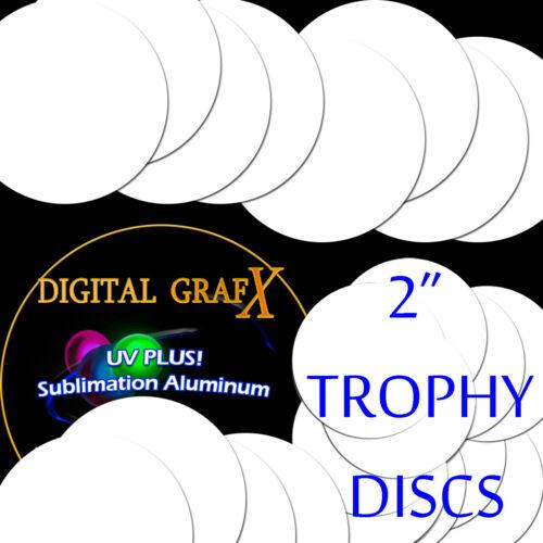 "2"" Round Insert, 3 Coat Process Sublimation Aluminum Blank Disc- Lot of 50PCs"