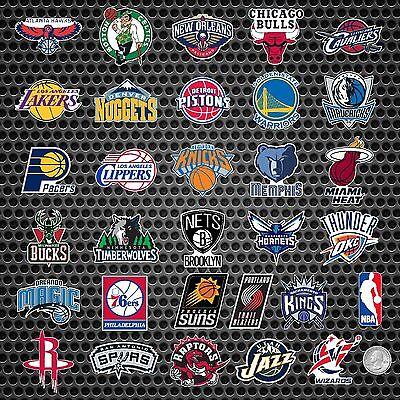 ALL 30 NBA TEAM MINI BASKETBALL LOGOS + 1 FREE NBA LOGO VINYL STICKERS (Mini Vinyl Basketball)