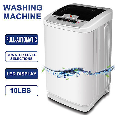 Transportable 10LBS Full-Automatic Compact Washing Machine Washer Spinner Drain Pump