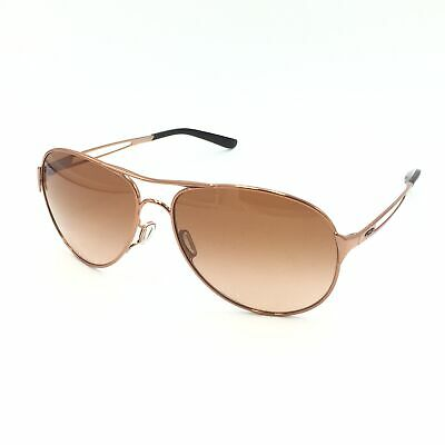 New Oakley Caveat OO4054-01 Aviator Rose Gold W/ Brown Gradient Lenses (Aviator Gold Brown Gradient)