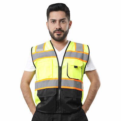 Kolossus High Visibility Safety Vest Multi Pockets Yellowblack Class 2 Kv02
