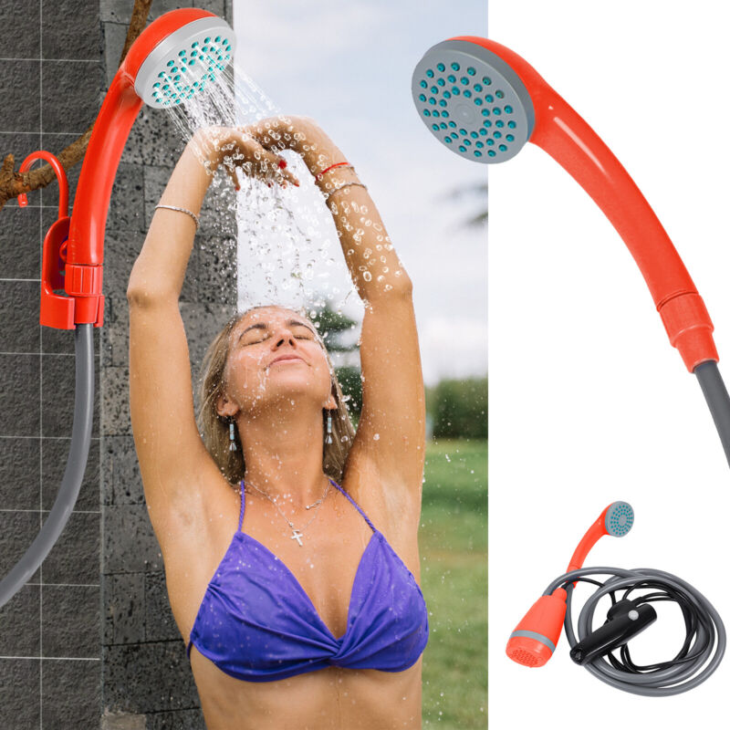 Outdoor Portable Camping Shower USB Rechargeable Battery Handheld Shower Head