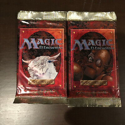 2x Magic the Gathering 4th Edition Booster Pack - MTG - SEALED - FWB Spanish
