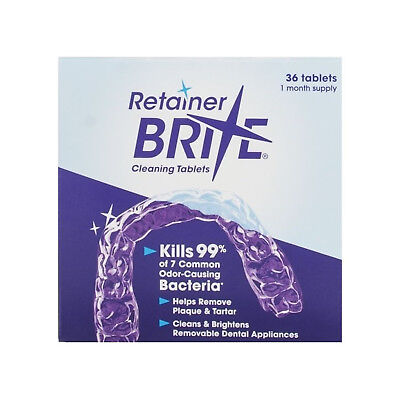 Retainer Brite Cleaning Tablets - 36 Tablets for 1 month supply