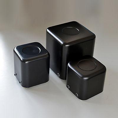 71*71*75mm Voltage Changer Transformer Square Cover Semi-Matte Black #J653 lx