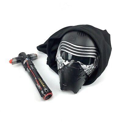 Star Wars Kylo Ren Voice Changer Mask With Hood And Saber Fast Ship (Mask With Voice Changer)