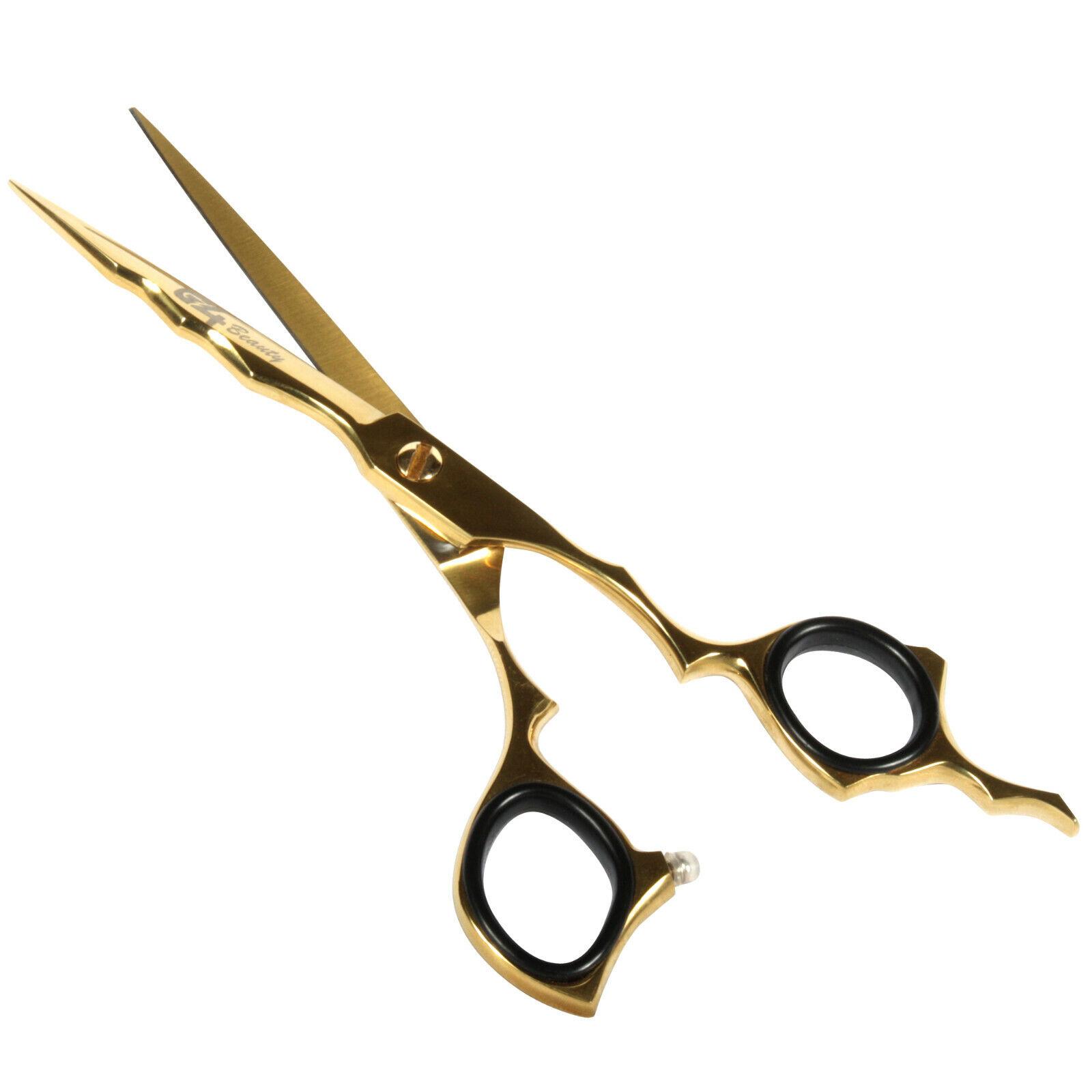 G4 Barber Scissors Gold Hair Razor Edge Haircut Shears Stain