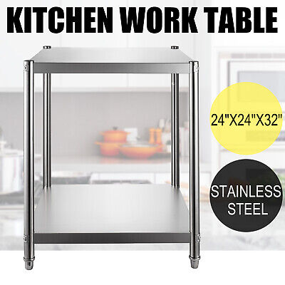24 X 24 Nsf Stainless Steel Commercial Kitchen Prep Work Table