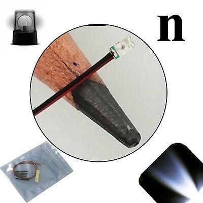 20 X 12v 0606 0603 Cool Clear White Nano Flashing Smd Pre-wired Led Blinking 9v