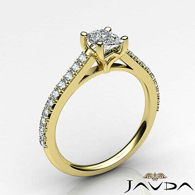 100% Natural Cushion Diamond Engagement Prong Set Ring GIA F Color VS1 0.75 Ct 8
