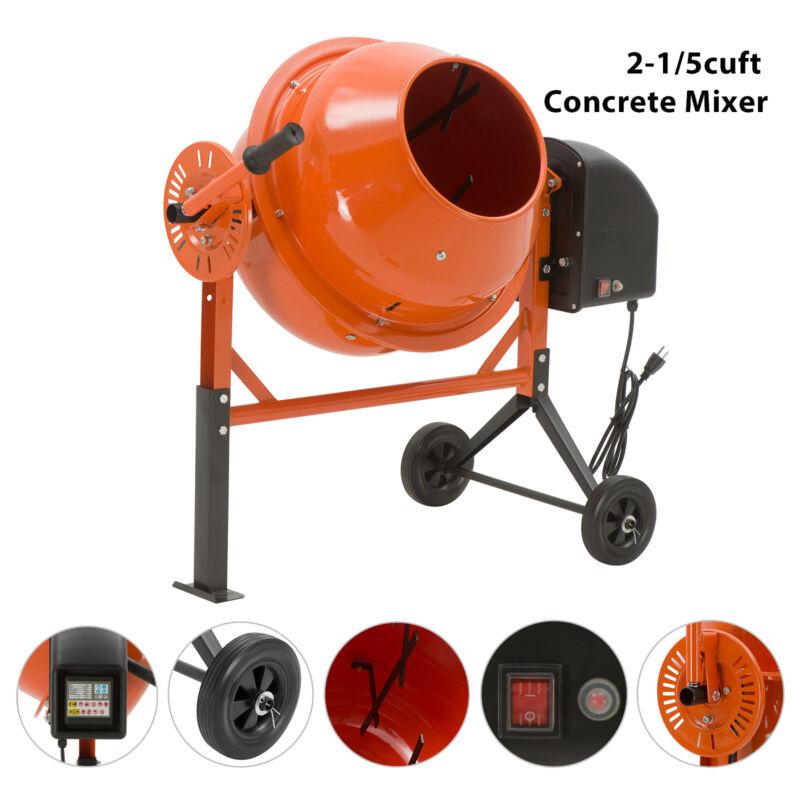 2-1/5cuft Portable Electric Concrete Cement Mixer Barrow Machine Mixing Mortar