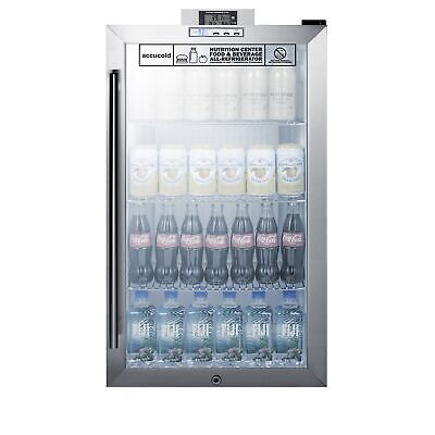 Accucold Scr486lnz One Glass Door Undercounter Nutrition Center Refrigerator