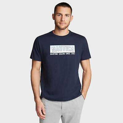 Nautica Mens Sleep T-Shirt In Maritime Sailing Graphic