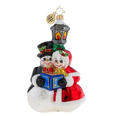 [Christopher Radko Ornaments - SNOWMAN COUPLE Christmas Ornament 1019285</Title]