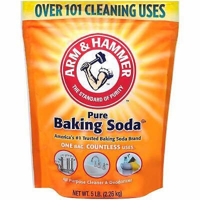 Arm & Hammer Pure Baking Soda 5 lb Resealable Water Resistant Bag Best