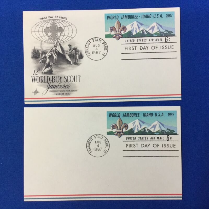 Boy Scout 2 1967 World Jamboree First Day Of Issue Post Cards