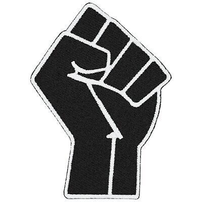 Black Raising Fist Protest Patch, Civil Rights Activist Patches