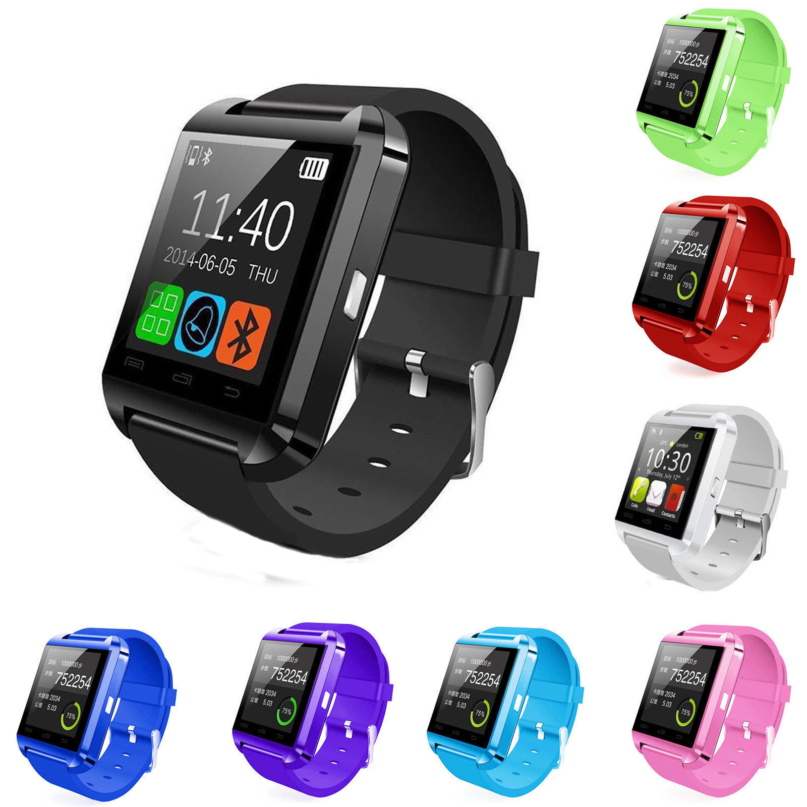 Bluetooth Smart Watch Phone Mate Wristwatches For Android Samsung LG Huawei