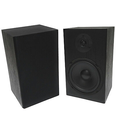 "2 Pack TDX 6.5"" 2-Way Bookshelf Home Theater Audio Speaker Pair Wall Mount Black"