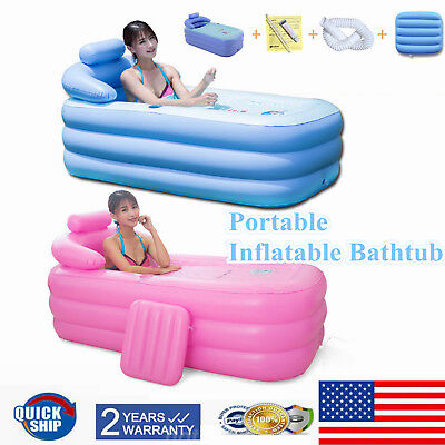 Blow Up Adult PVC Portable Spa Warm Bathtub Inflatable Bath Tub Kit Brand New US - Blow Up Tub