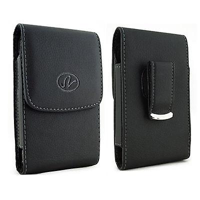 Premium Vertical Leather Sviwel Belt Clip Case FOR TracFone