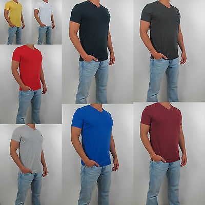 New Abercrombie Fitch A F Men V Neck Tee T Shirt Hollister All Size Color NWT