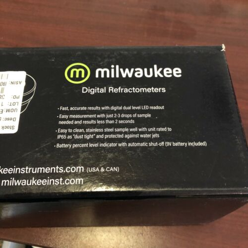 Milwaukee Fast Accurate Results With Digital Dual Level Digital Refractometer