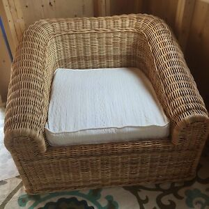 Hand made natural wicker set