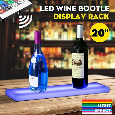 20 Led Lighted Back Bar Liquor Display Shelf Rack Wine Bottle Stand W 44key Rc
