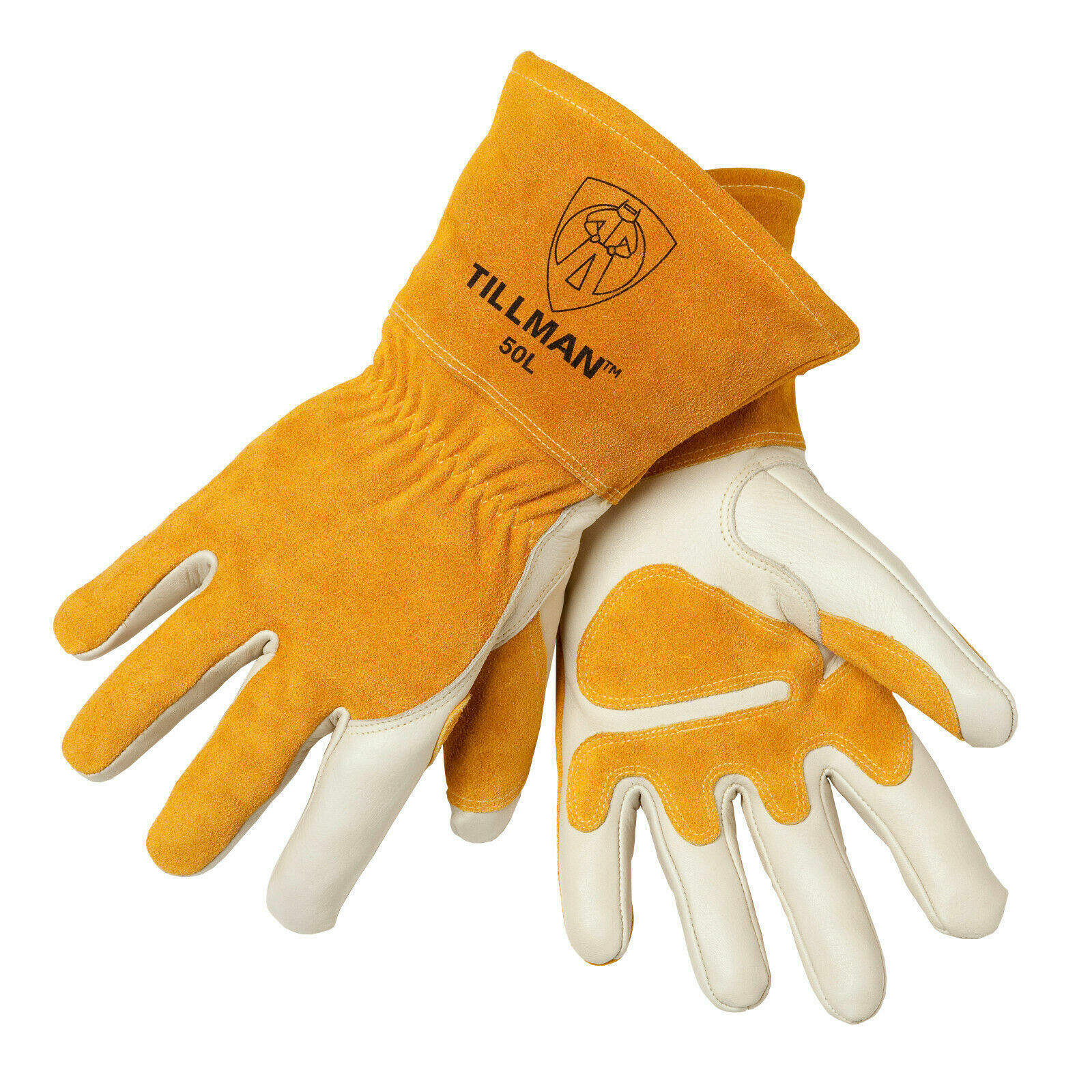 Tillman 50 Top Grain Split Cowhide Fleece Lined MIG Welding Gloves Sizes S-2XL Business & Industrial