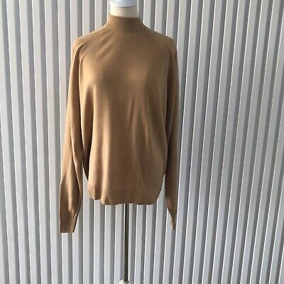 80s Sweatshirts, Sweaters, Vests | Women Vintage Pitlochry of Scotland Tan Pure New Wool Womens Jumper Size 2 (44