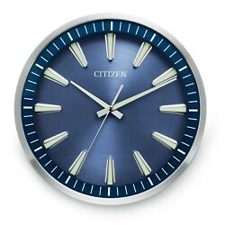 NEW 14  CITIZEN  BRUSHED SILVER FRAME GALLERY WALL CLOCK - CC2010