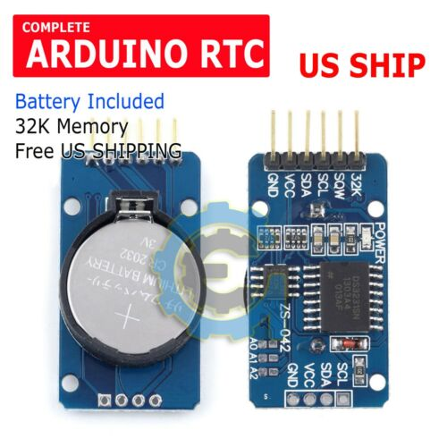 1PC DS3231 AT24C32 IIC  precision Real time clock RTC memory module For Arduino