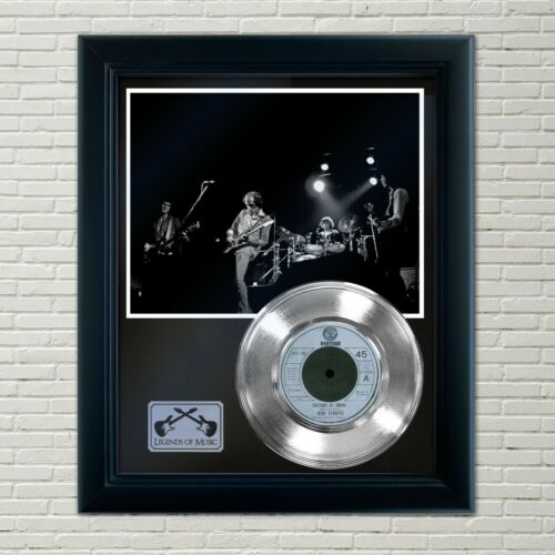 "Dire Straits ""Sultans Of Swing"" Framed 45 Silver Record Display"