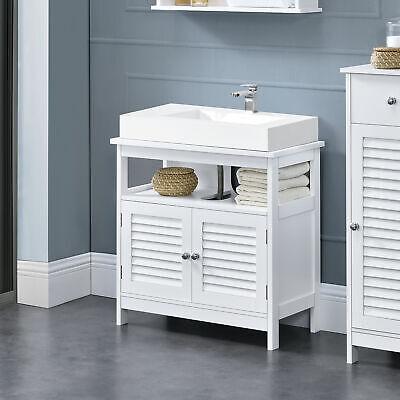 en.casa® Mueble de baño Mueble para Debajo de Lavabo Puertas 60x60x30cm Blanco