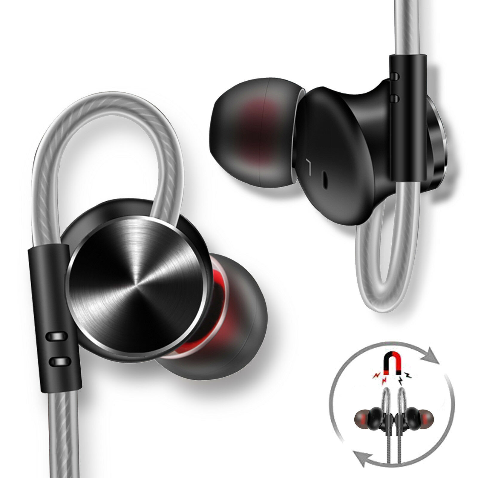 3D Sound Quality Wired Earphone Headphones Headset Sports St
