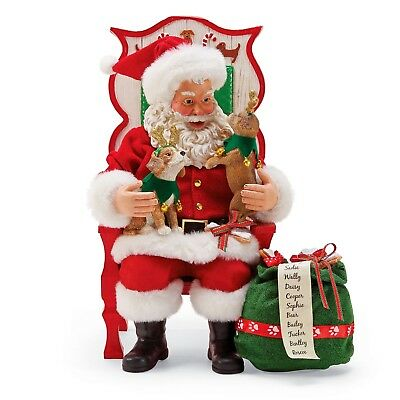 [Dept 56 Possible Dreams Santa Sit Stay Pose Santa With Puppies 6000734</Title]