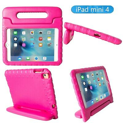 Kids Shockproof Handle EVA Foam Toddler Case Cover Stand For Apple iPad Mini 4 - Foam Apples