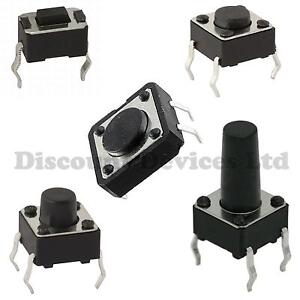 Quality-Momentary-Tactile-Push-Button-Switch-SPST-Miniature-Mini-Micro-Small-PCB