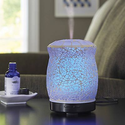 Better Homes and Gardens Essential Oil Diffuser Crackle Mosaic Light Blue