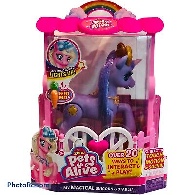 Pets Alive My Magical Unicorn Interactive Robotic Toy by ZURU In PURPLE