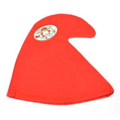GNOME SMURF HAT FANCY DRESS COSTUME RED DWARF ADULT FANCY DRESS ACCESSORY  - Red Smurf Hat