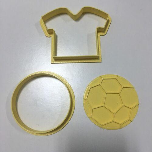 Calcio Maglietta Pallone Formina Biscotti Cookie Cutter Pdz 7 Cm