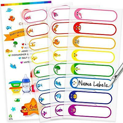 Baby Bottle Labels For Daycare Self-laminating Waterproof Write-on Name