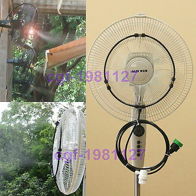 Low Pressure Fan Misting System Slip Lok Kit 13ft - 3 Brass Nozzles - Diy Kit