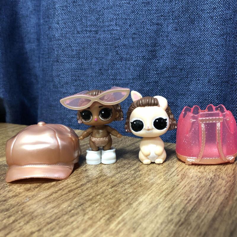 Original LOL Surprise Pets Makeover Series LILS LIL Instagold with cap bag toys
