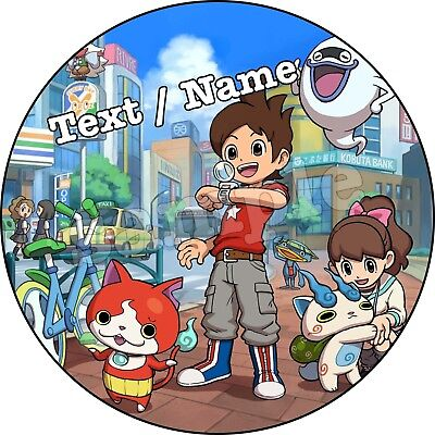 Yo-Kai Watch! Party Deko Tortendeko Tortenaufleger personalisiert Tortenbild neu
