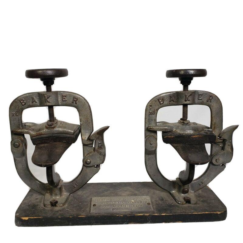 Antique Baker Shoe Press Co. Model X 493 Springfield Illinois