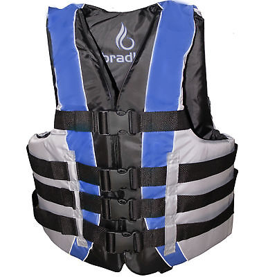 Life Jacket Vest Adult PFD Type III Fully Enclosed US Coast Guard Approved SAFE! Coast Guard Approved Type